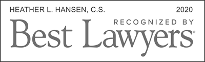 Best Lawyers 2020, Canada, Heather L. Hansen
