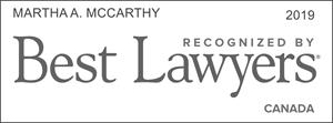 Best Lawyers 2019, Canada, Martha McCarthy